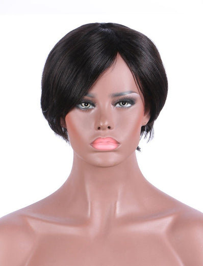 Bob Straight Stock Wig Human Hair 150% Density Full Machine Made Wigs