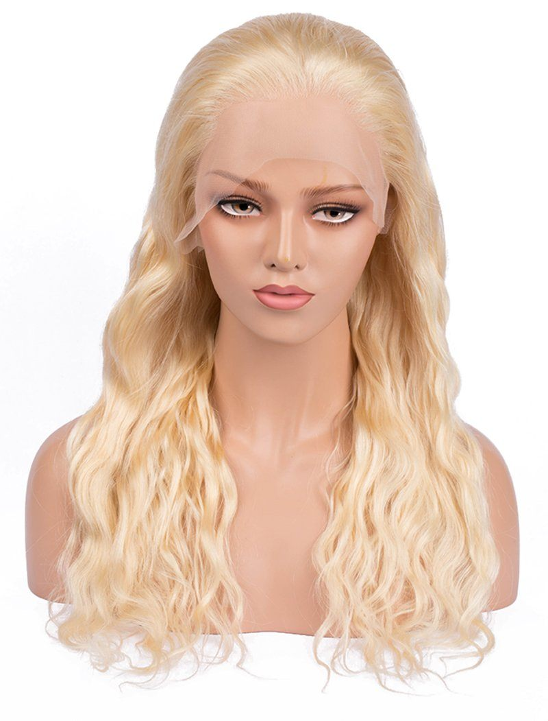 #613 Blonde Natural Wave Human Hair Lace Front Wigs