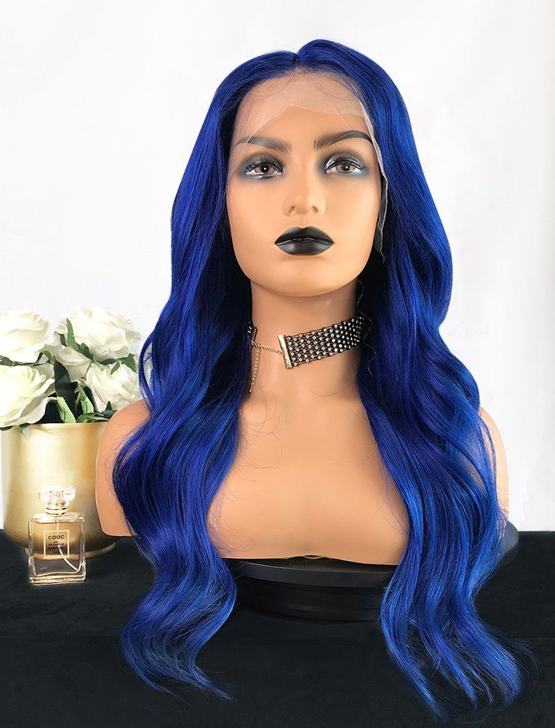 Load image into Gallery viewer, Murray | Remy Hair 20 Inches Lace Front Wig Blue