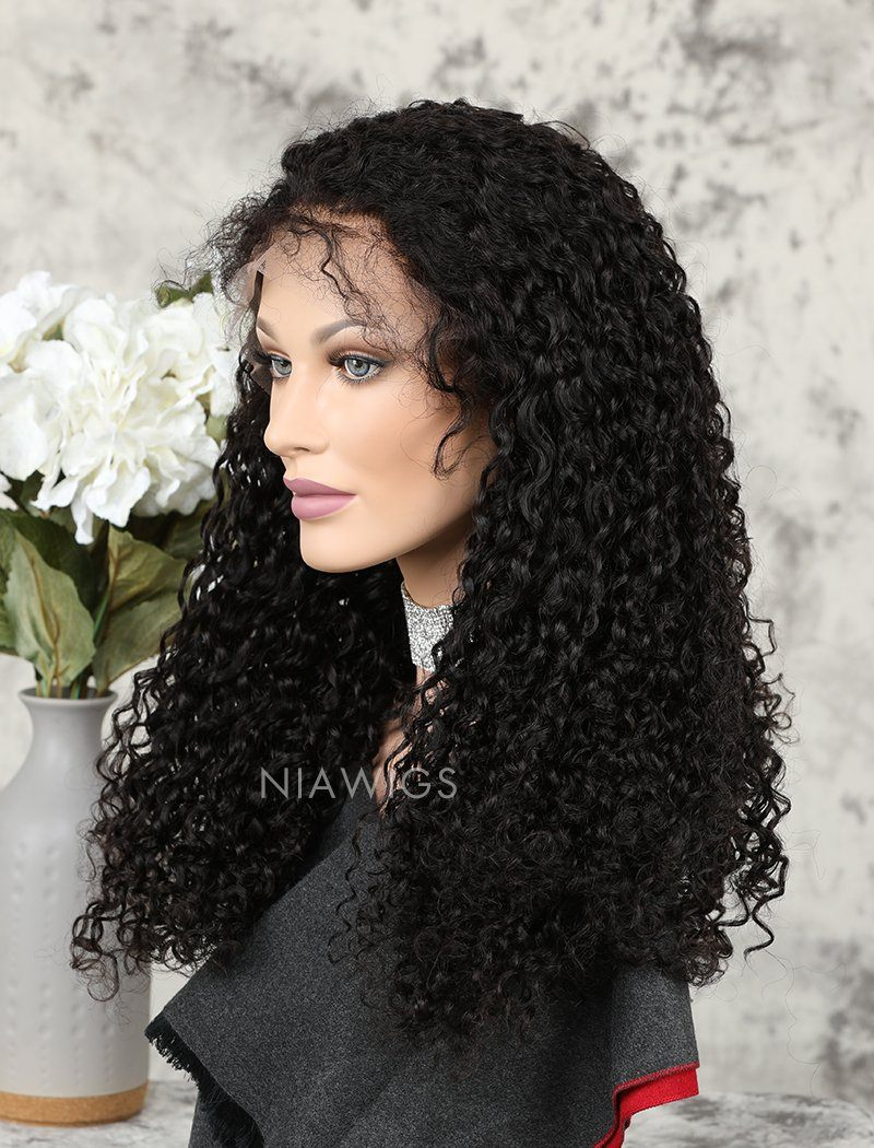 2020 Best Selling Curly Human Hair Lace Front Wigs With Natural Hairline