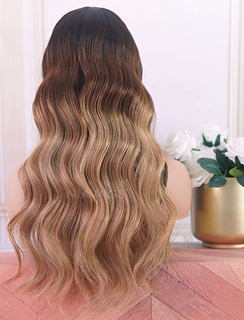 Angeline Headband Wig Wavy Human Hair Wigs (WITH ONE FREE TRENDY HEADBAND)