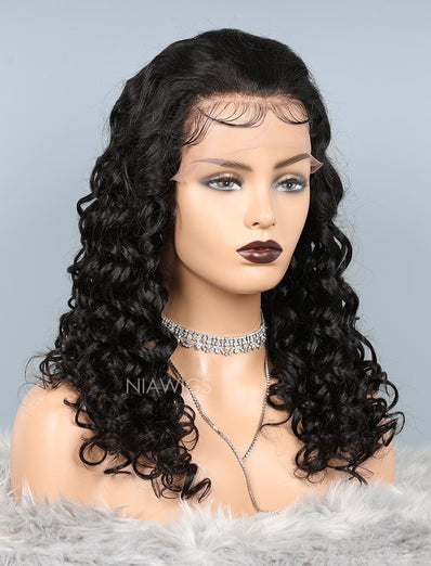 Natural Wave Lace Front Human Hair Wigs With Baby Hair