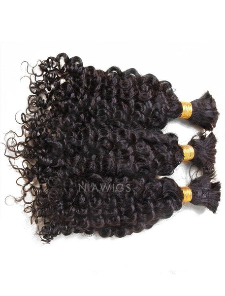 Load image into Gallery viewer, Bulk Hair Extenstion For Braiding Without Attachment Kinky Curly