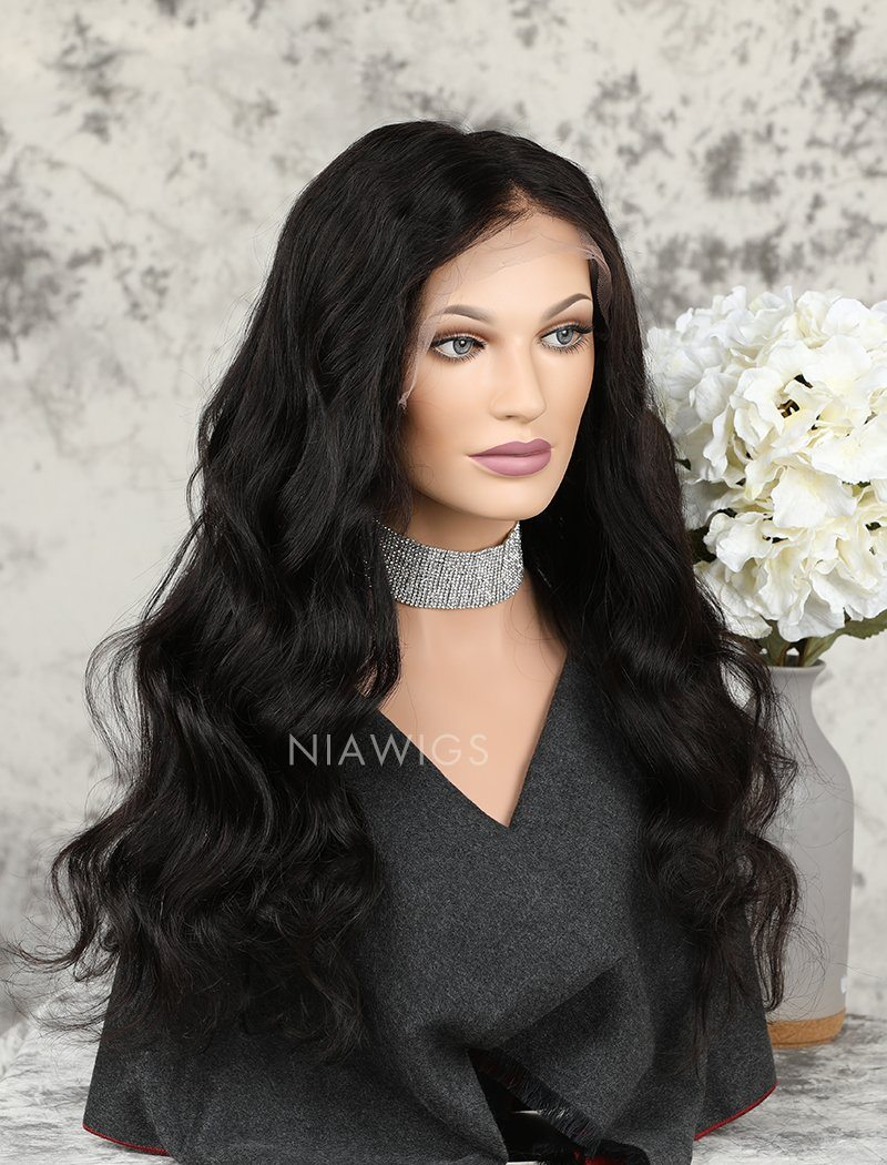 Load image into Gallery viewer, Loose Wave Human Hair Glueless Full Lace Wigs With Baby Hair