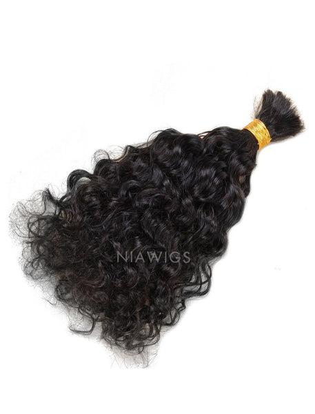 Load image into Gallery viewer, Bulk Human Hair for Braiding Natural Wavy Brazilian Hair
