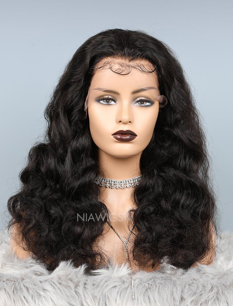 Loose Wave Glueless Full Stretchable Human Hair Wigs With Baby Hair