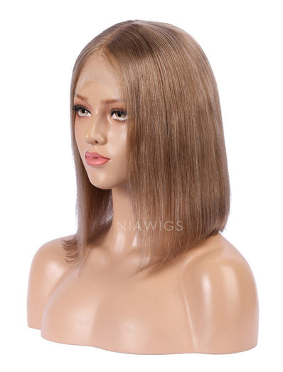 Cappuccino Human Hair Bob Wig Colorful Lace Wigs