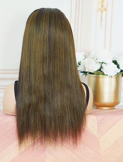 Kellyn #Balayage Headband Wig Human Hair Machine Made Wigs