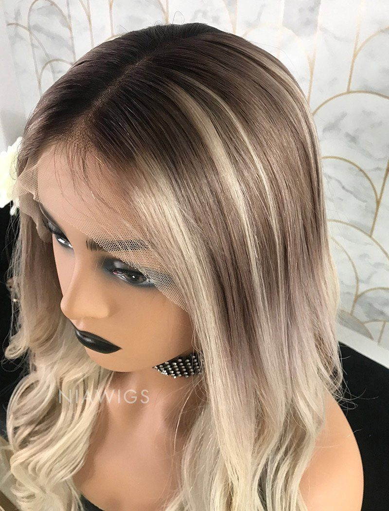 Load image into Gallery viewer, Laura | Virgin Hair 22 Inches Glueless Full Stretchable Wig Balayage