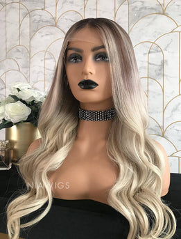 Laura||Virgin Hair 22 Inches Glueless Full Stretchable Wig Balayage