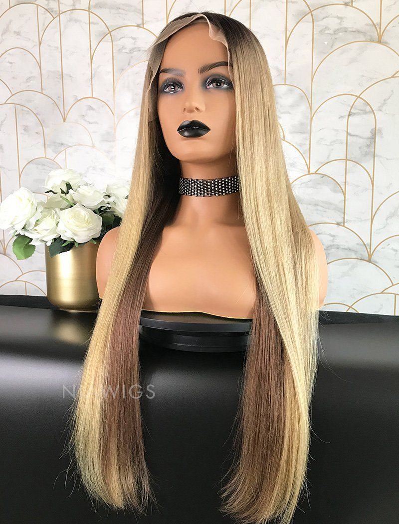 Felice Remy Hair 24 Inches Lace Front Wig Balayage
