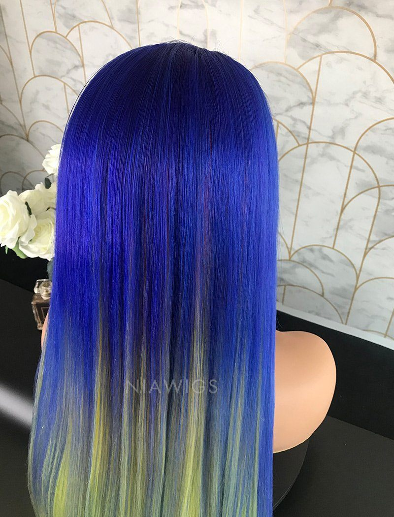 Load image into Gallery viewer, Buena||Remy Hair Lace Front Wig 22 Inches Beautiful Rainbow Color