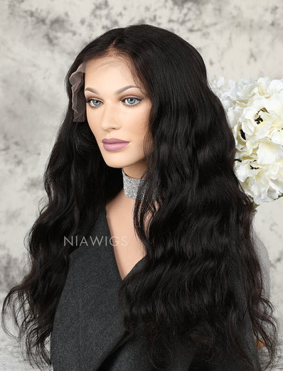 Natural Wave Human Hair Lace Front Wigs Softness & Smoothness