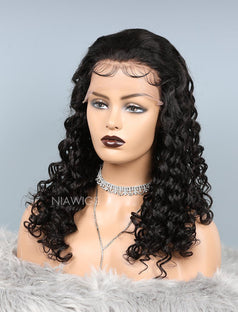 Load image into Gallery viewer, Natural Wave Lace Front Human Hair Wigs With Baby Hair