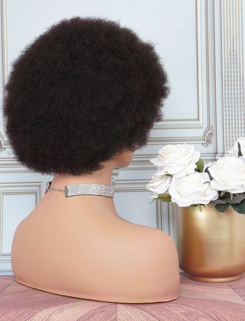 Load image into Gallery viewer, Afro Kinky Curly Stock Wig 10 Inches Human Hair Full Machine Made Wigs