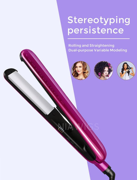 Load image into Gallery viewer, GIFT Bright Purple Flat Iron Hair Straightener