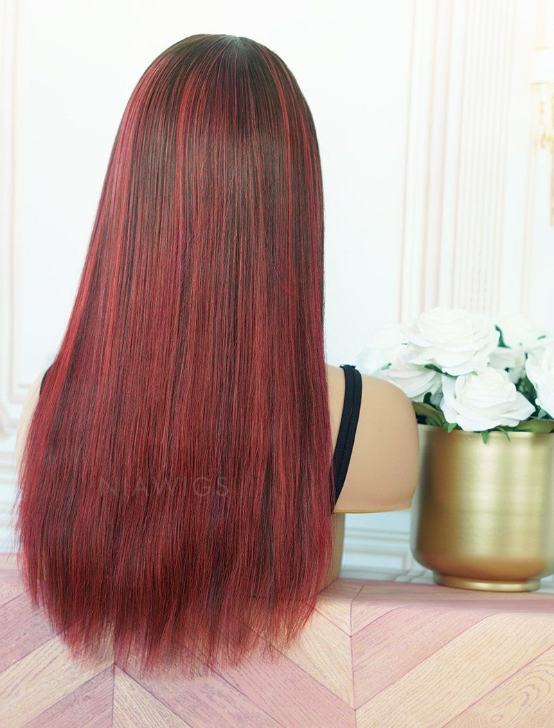 Barbara #Red Headband Wig Human Hair Wigs (WITH ONE FREE TRENDY HEADBAND)