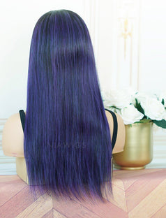 Load image into Gallery viewer, Amanda #Lavender Purple Headband Wig Human Hair Machine Made Wigs