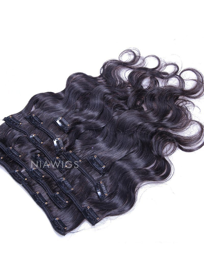 Clip-In Hair Extensions Brazilian Human Hair Body Wave