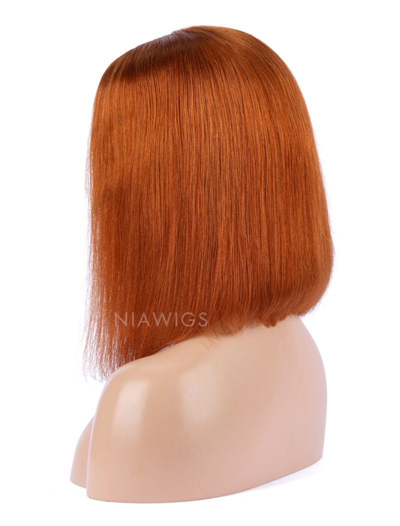 Caramel Human Hair Bob Wig Colorful Lace Wigs