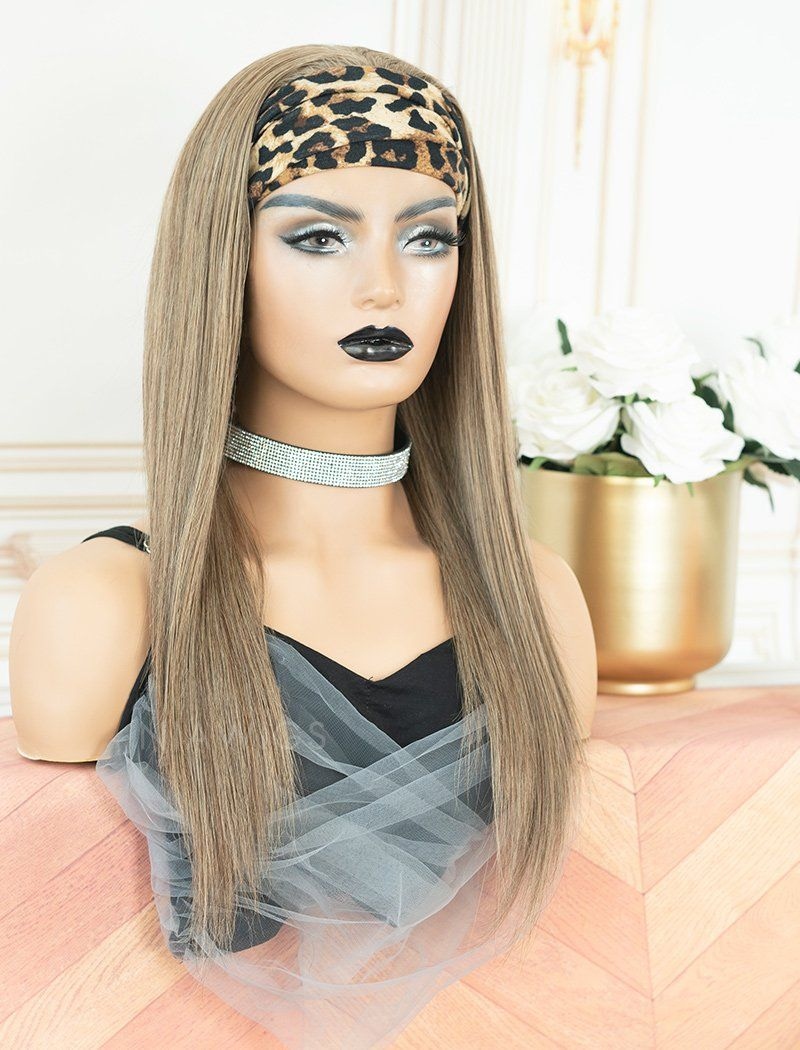Zetta #Balayage Headband Wig Human Hair Wigs (WITH ONE FREE TRENDY HEADBAND)