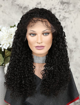 2019 Best Selling Curly Human Hair Glueless Full Lace Wigs With Baby Hair