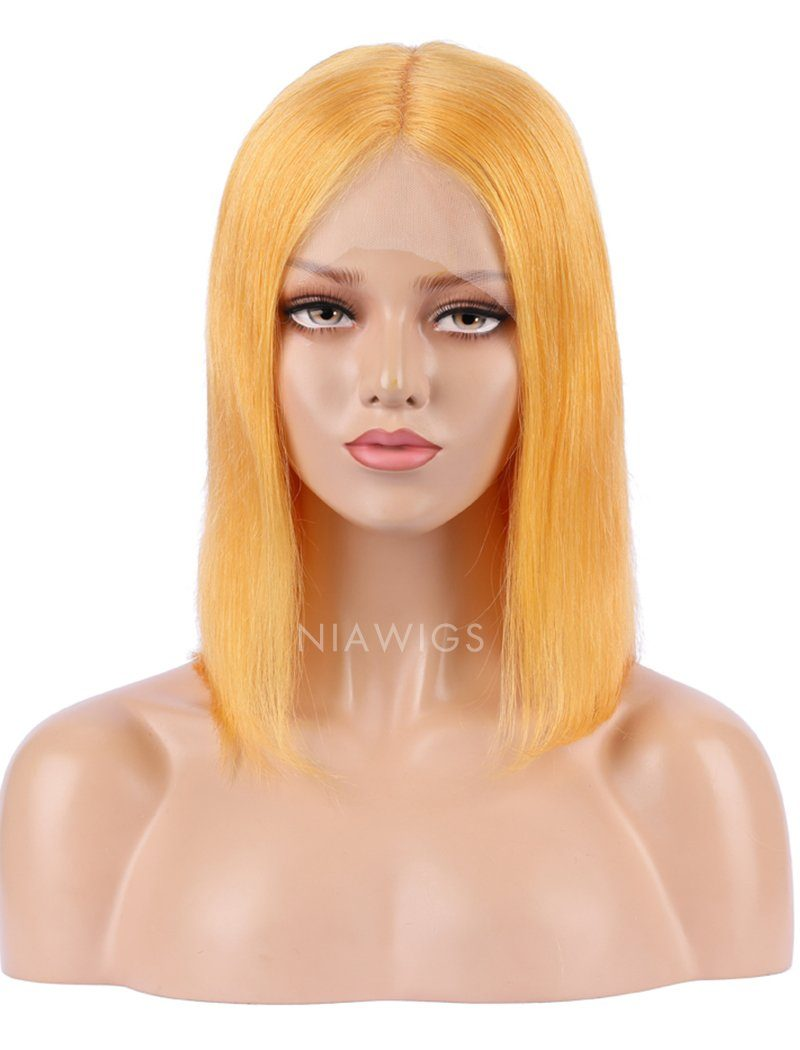Papaya Human Hair Bob Wig Colorful Lace Wigs