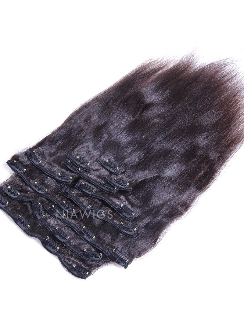 Clip-In Hair Extensions Brazilian Hair Yaki Straight