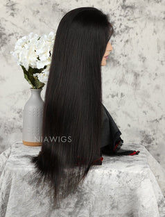 Load image into Gallery viewer, Silky Straight Human Hair Skin Base Lace Front Wigs
