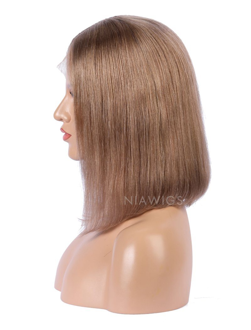 Load image into Gallery viewer, Cappuccino Human Hair Bob Wig Colorful Lace Wigs