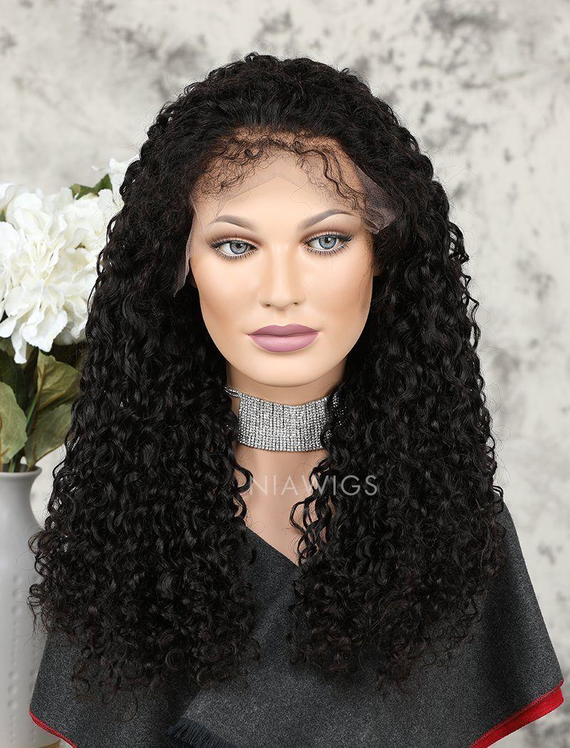 Load image into Gallery viewer, 2020 Best Selling Curly Human Hair Glueless Full Stretchable Wigs With Baby Hair