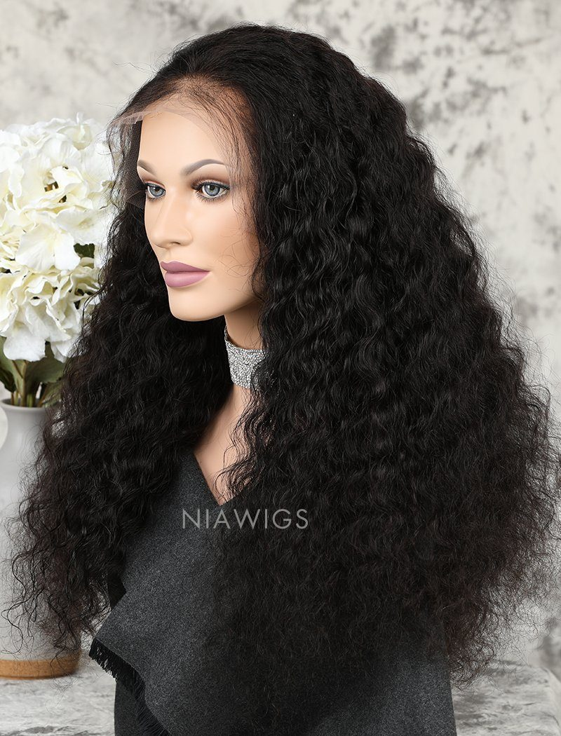 Deep Wave Human Hair Lace Front Wigs With Natural Hairline