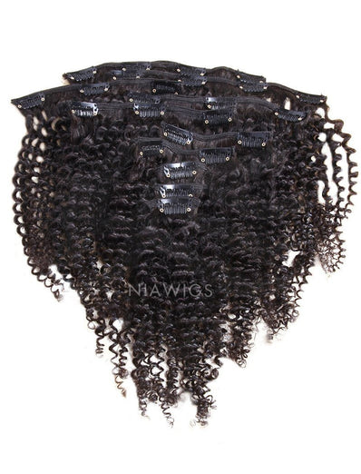 Clip-In Hair Extensions Brazilian Hair Kinky Curly
