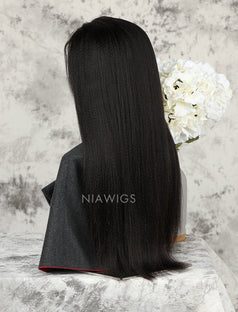 Load image into Gallery viewer, Yaki Straight Human Hair Skin Base Lace Front Wigs