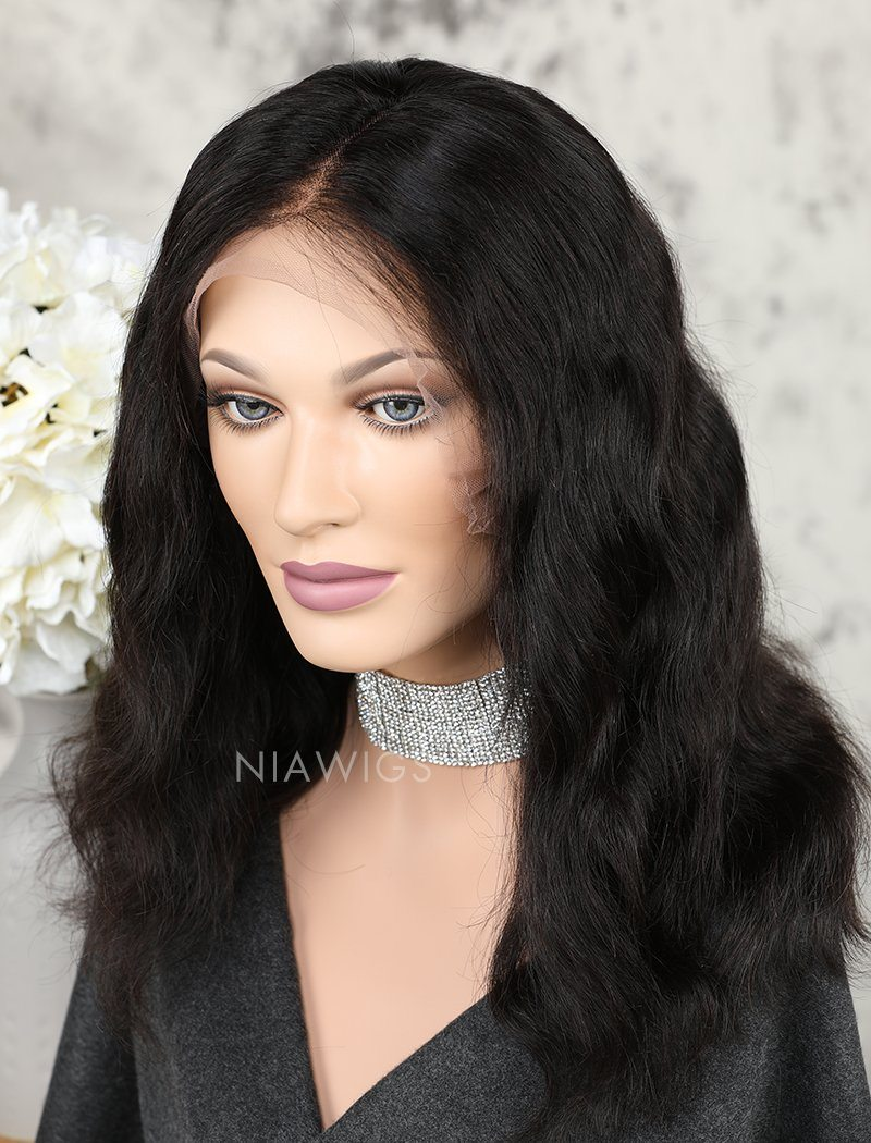 Load image into Gallery viewer, Short Bob Wig Natural Wavy Human Hair Lace Front Wigs