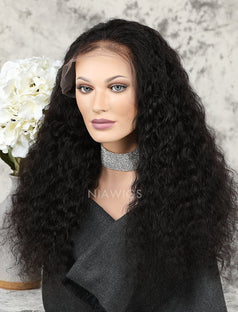 Load image into Gallery viewer, Deep Wave Human Hair Glueless Full Lace Wigs With Baby Hair