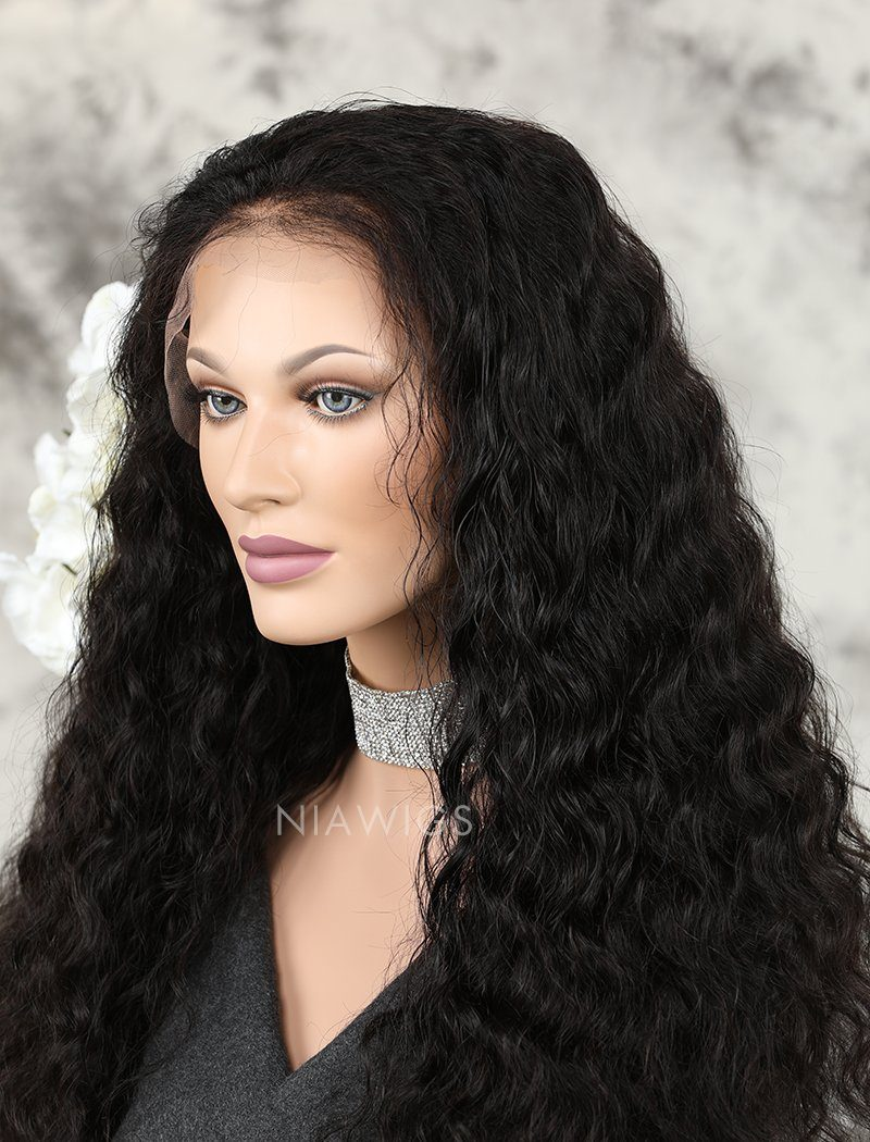 Load image into Gallery viewer, Loose Curly Human Hair Lace Front Wigs With Natural Hairline