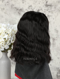 Load image into Gallery viewer, Fashion Bob Cut Natural Wavy Human Hair Glueless Full Stretchable Wigs