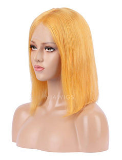 Load image into Gallery viewer, Papaya Human Hair Bob Wig Colorful Lace Wigs