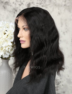 Load image into Gallery viewer, Bob Wavy Human Hair Glueless Full Lace Wigs
