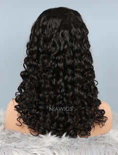Load image into Gallery viewer, Natural Wave Glueless Full Lace Human Hair Wigs With Baby Hair