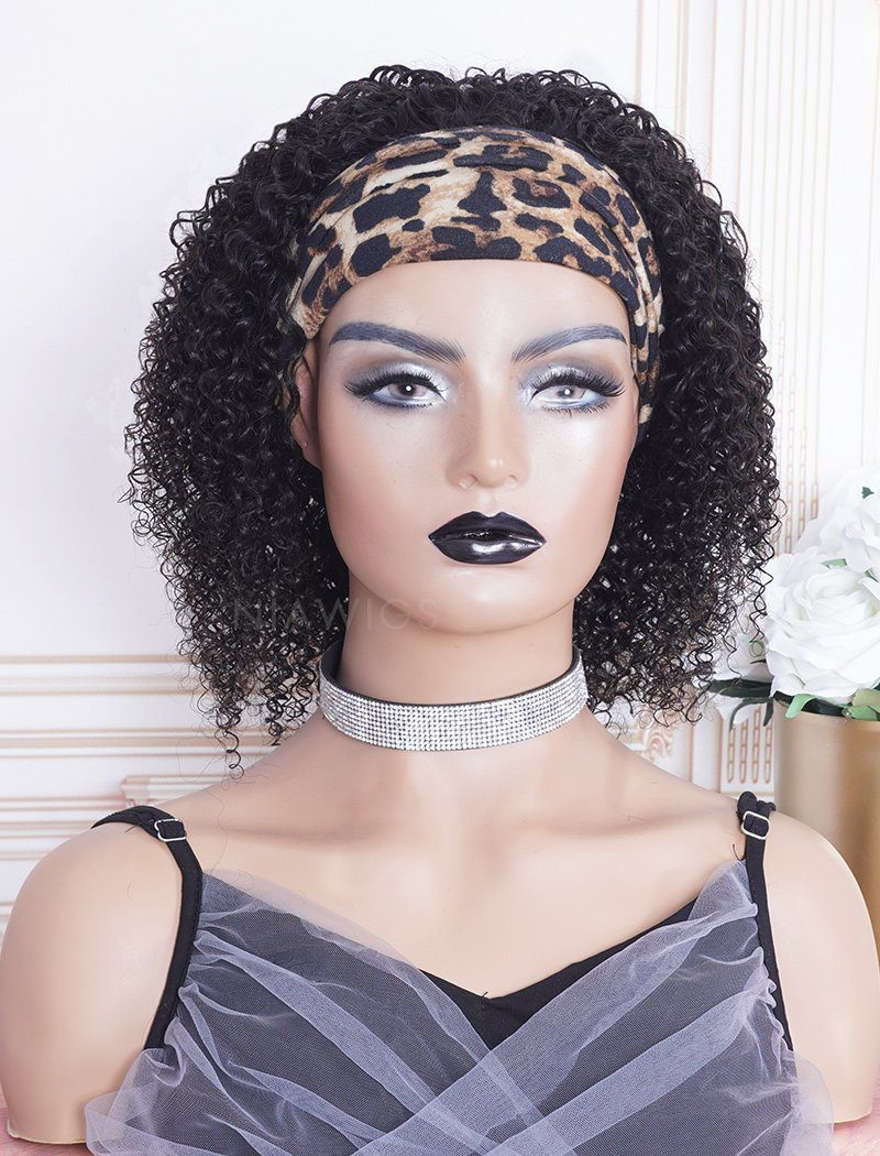 New Arrival Curly Head Band Wig Human Hair Wigs (WITH ONE FREE TRENDY HEADBAND)