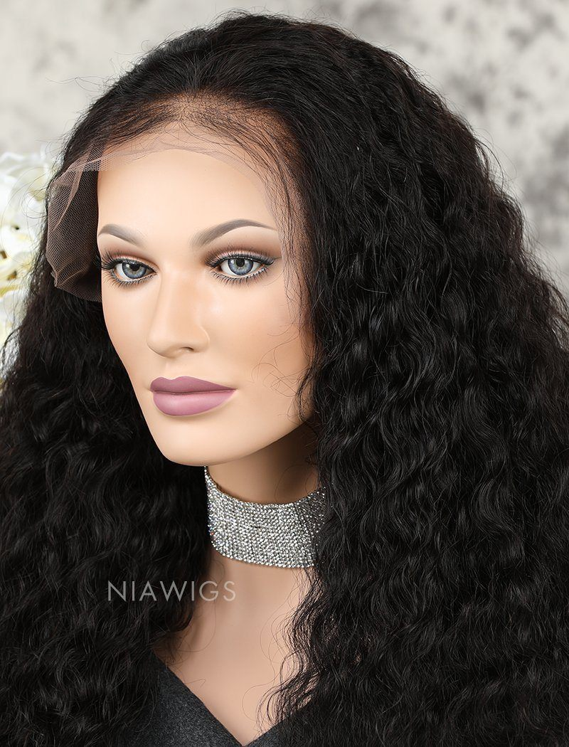 Load image into Gallery viewer, Deep Wave Human Hair Glueless Full Stretchable Wigs With Baby Hair