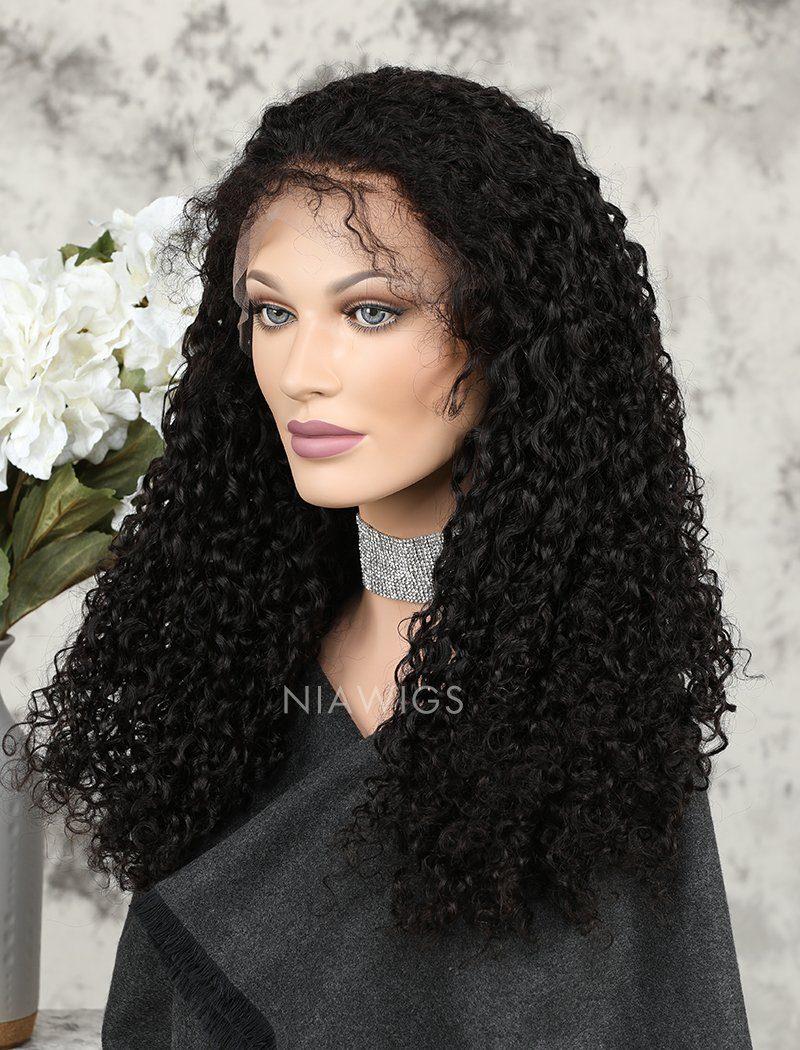 Load image into Gallery viewer, 2020 Best Selling Curly Human Hair Glueless Full Lace Wigs With Baby Hair