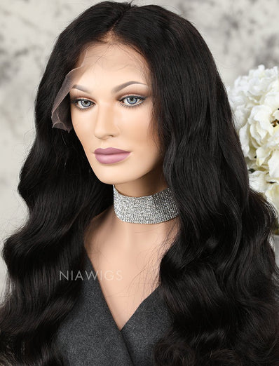 Loose Wave Human Hair Glueless Full Lace Wigs With Baby Hair