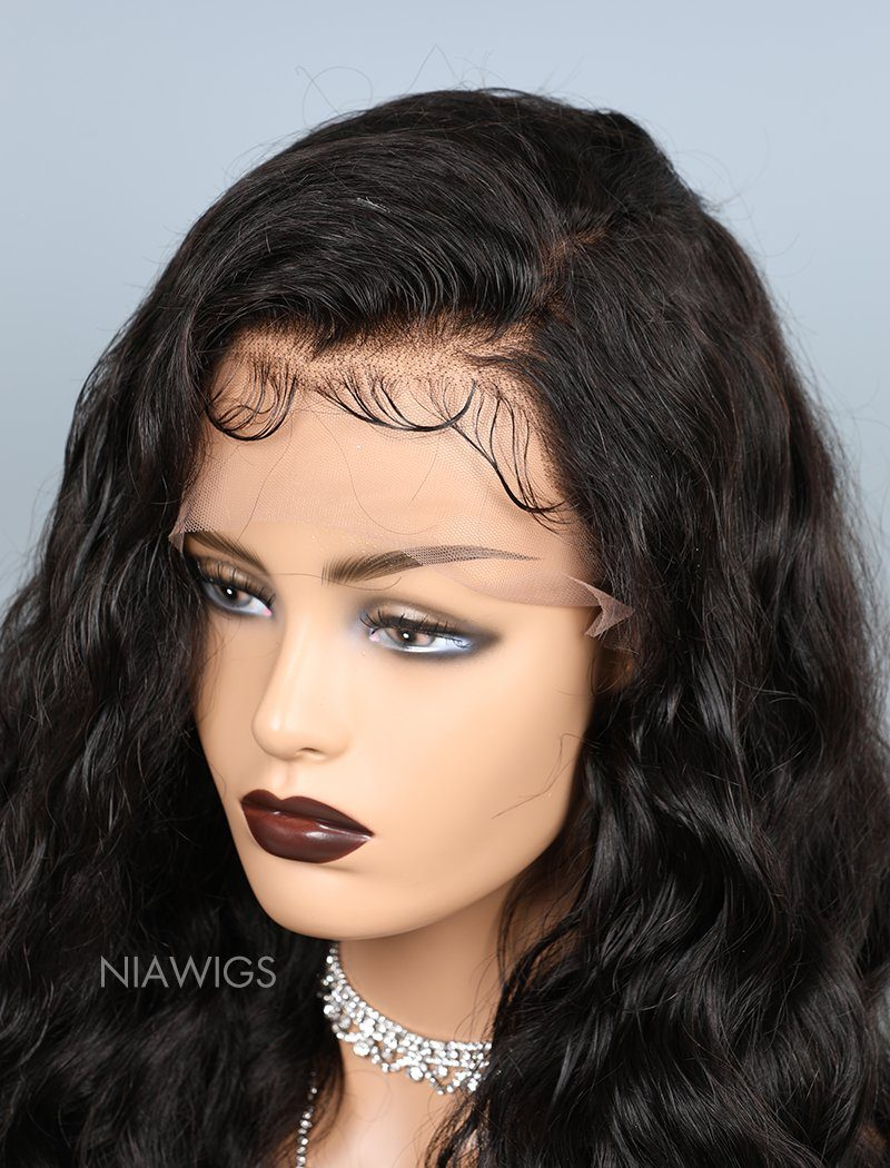 Loose Wave Lace Front Human Hair Wigs With Baby Hair