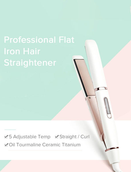 Load image into Gallery viewer, Professional Flat Iron Hair Oil Tourmaline Ceramic Titanium Straightener