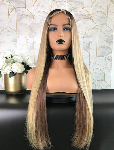 Felice | Remy Hair 24 Inches Lace Front Wig Balayage