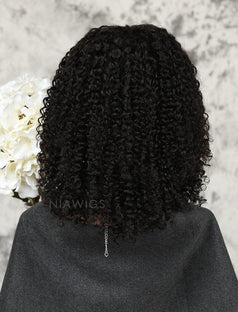 Load image into Gallery viewer, Kinky Curly Human Hair Glueless Full Lace Wigs For African American