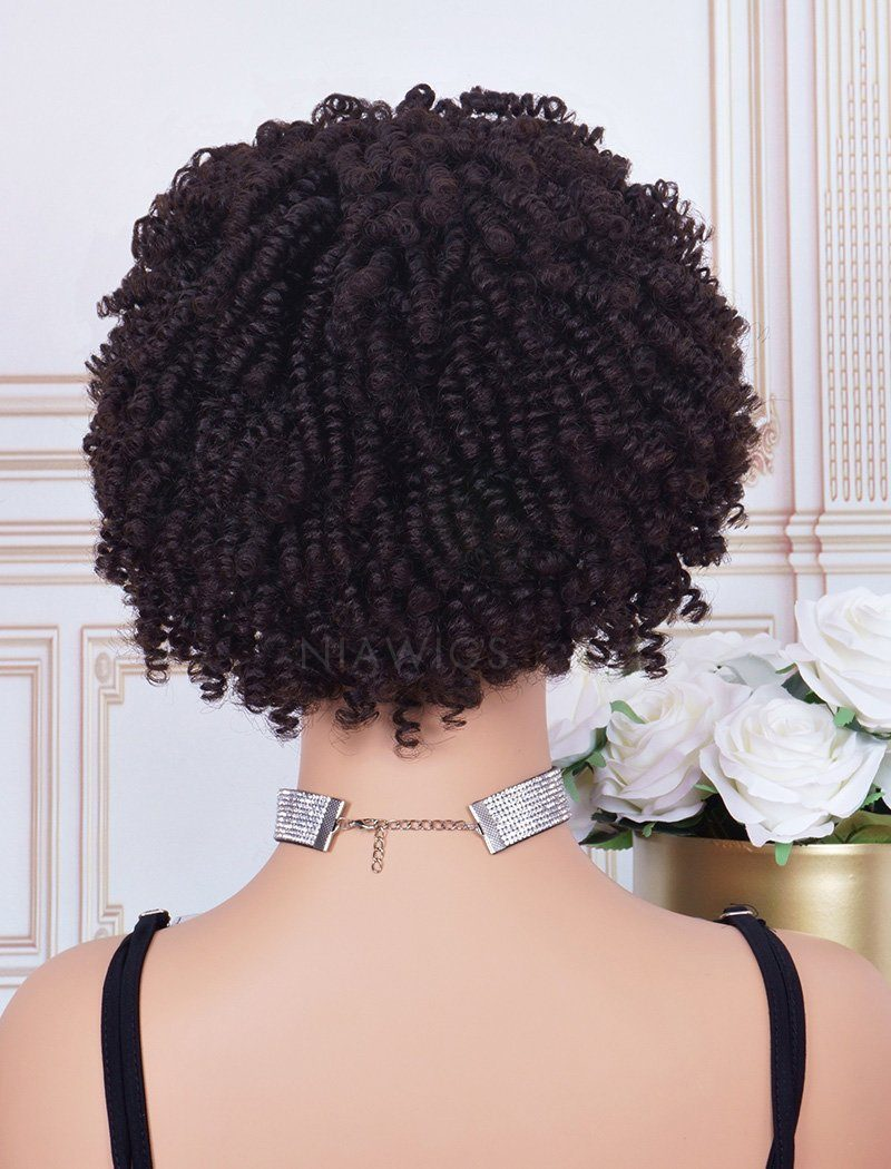 Load image into Gallery viewer, Headband Wig 4C Kinky Curls Human Hair Machine Made Wigs
